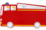Lanka Kade Fire Engine Plaque red